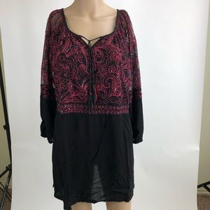 Embroidery /Beaded Tunic by Krista Lee Size M